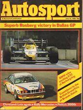 Autosport Magazine July 12 1984 BMW British Grand Prix 081617nonjhe