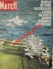 Paris Match n°708 du 03/11/1962 porte-avion Enterprise Cuba Castro Kennedy DS