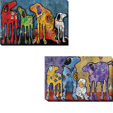 Best Friends & Cast of Characters by Foster 2-pc Canvas Giclee Art Set