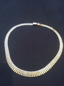 9 Carot Gold Cleopatra Style Necklace 38 grams