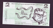 AUSTRALIA political Funny money 2 dillers  REJECT THE SPLITTERS   (UC)