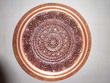 Kupfertablett Wandteller Kupfer Tablett ca. 40 cm Durchmesser