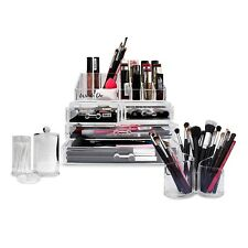 Make up Organiser,Large Acrylic Cosmetic Jewelry Display Stand-Complete set
