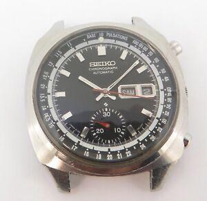 Rare Vintage Seiko Pulsations Chronograph Auto Steel Watch 6139 6020 $1 No Res