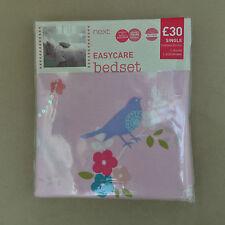 Next girls pink Embellished Bird Print single bedding/ bed set /bed linen