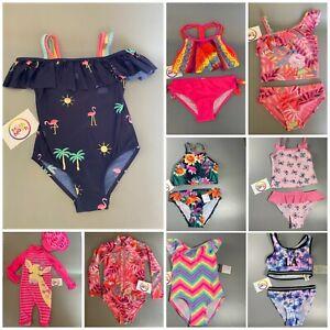 girls kids baby swimming costume bikini tankini swim 2piece swimsuit  0-14 yrs