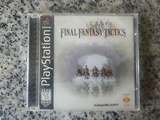 Final Fantasy Tactics (Sony PlayStation 1, 1998) Cib, Black Spine