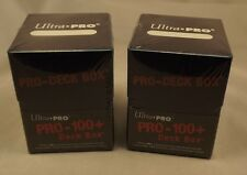 Ultra Pro 100+ Blue Pro-Deck Box x 2 NEW hold 110 cards Trading Card Accessories