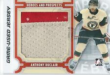 2013-14 ITG Heroes & Prospects ANTHONY DUCLAIR #M-26 Game Used Jersey Silver