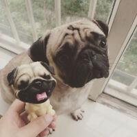 Puppy Pug Dog Animal Figurine Model Home Car Dashboard Office Ornament Decor