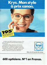 Publicité Advertising 028 1991 les Opticiens Krys lunettes monture Pauline 89732c9a8b3c