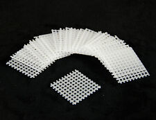 """60 Pcs. Square White Plastic Drainage Mesh For Bonsai Pot - 1.5""""x1.5"""""""
