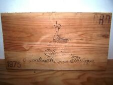 Façade estampe Mouton Baronne Rothschild 1975 wine crate front panel case box