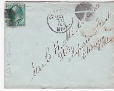 DETROIT, MICH. MAY 10, UNKNOWN YEAR BACKSTAMPED CHICAGO, ILL BLUE CANCELLATION