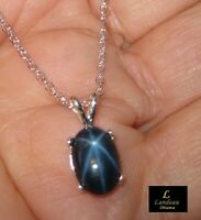 3.8 ct. Star Sapphire Silver Pendant & Necklace