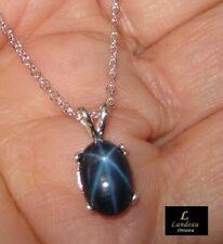 4.8 ct. Star Sapphire Silver Pendant & Necklace