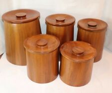 Sturdy and Durable Natural Teak Tea Cans Simple and Elegant Collections