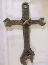Lrg Cross Christian Jesus Crucifix Grace Wall Decor Decoration Tool Wrench Mens