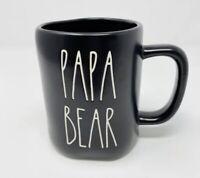 NEW Rae Dunn LL PAPA BEAR Black Ceramic Coffee Mug