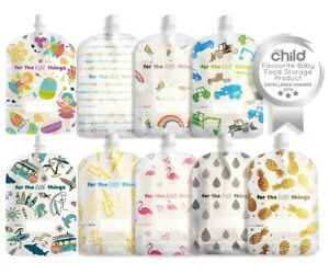150ml Sinchies Reusable Food Pouches Fairy, Trucks, Surf, Unicorn, Pine and more