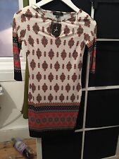 BNWT Atmosphere Size 8 Paisley Stretch Dress Short Sleeve (F2