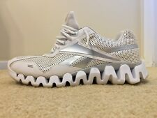 Reebok Zigtech Zigsonic, FLU 510, Men's Running Shoes, White / Silver, Size 12.5