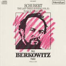 Schubert: The Last Three Sonatas (Vol. 2) - Paul Berkowitz (Piano) / CD neu