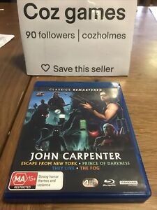 John Carpenter Classics Remastered Blu Ray The Fog/they Live/prince Of Darkness