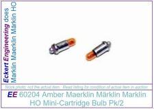 EE 60204 NEW Marklin HO Mini Cart Bulb Amber / Yellow Pk2 602040