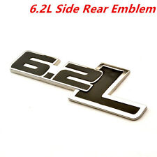 2Pcs 6.2L Black Emblem Badge Name Plate Decal Replaces OEM For Ford / Chevrolet