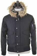 WOOLRICH Mens Parka Jacket Size 36 Small Black  CB09