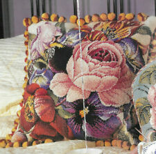 Morning Glory Rose Cushion Elian McCready Tapestry Needlepoint Chart in Colour