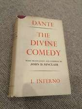 Dante Alighieri DIVINE COMEDY I INFERNO hardback Bodley John Sinclair 1964