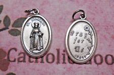 St. Saint Dymphna - Pray for Us - Italian Silver-Tone OX 1 inch Medal