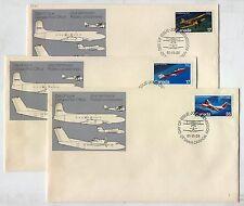 FDC AL82 Canada 1981 Plane Transport aircrafts Set 3 pcs