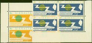Gibraltar 1965 I.T.U set of 2 SG180-181 V.F MNH Blocks of 4