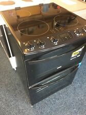 Zanussi ZCI68300BA 60cm Electric Double Oven Cooker & Induction Hob - Black