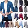 Men Slim Fit Formal Business Blazer Tuxedos Suit Jacket Coat Pants Party Wedding