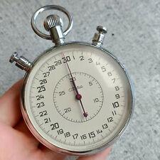 Retro SLAVA Stopwatch Soviet Mechanical Chronograph Military USSR Split 0,1s