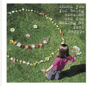 Thankyou For Being Awesome And Making Me Happy Greetings Card Friendship Friend
