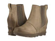 Para mujeres Zapatos Sorel Joan Of Arctic II Cuña Chelsea Botas 1808551240 marrón ceniza