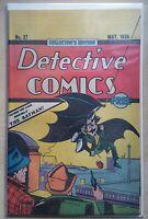 Detective Comics #27 *1ST BATMAN ***RARE OREO REPRINT**(NM-) BATMAN MOVIE COMING