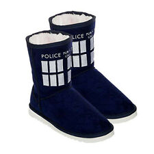 SIZE 9 Doctor Who TARDIS Officially Licensed Boot Ladies Outdoor Indoor Slipper