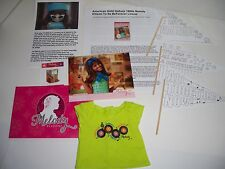 American Girl MELODY Store Exclusive 8 piece lot with T-Shirt + More