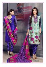Salwar Kameez Woman Dress Indian Party Occasionally Suit Unstitched Cotton