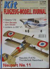 Modellbau Zeitschrift Kit Flugzeug 05/2008 + Kopie Monogram Close up