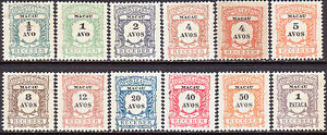 1904 MACAO 1-11 Timbres-Taxe Postage Due compl.set + a shade of 4a MNG