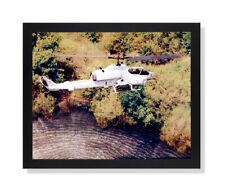 USMC Marine Cobra Helicopter Wall Picture Black Framed Art Print