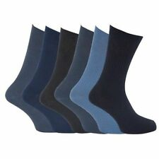 Calcetines Negros Hombre 100% Algodón Tallas Grandes XL Azul Gris