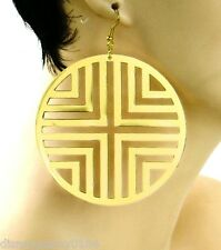 Basketball Wives Round Disc Earrings-GOLDtone-Very Lightweight-3 inches
